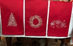 Red Linen Tea Towels
